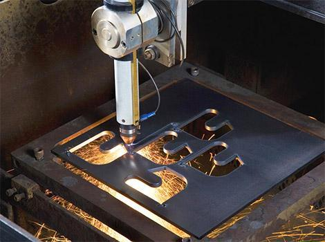 Plasma Cutter Cutting Metal